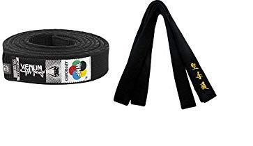 Todos los Estilos de Artes Master Kempo Kick Boxing Shihan Cintur/ón Negro Satinado Shotokan Plata Bordado Shito-Ryu Goju Ryu Karate en Japon/és 320cm para Hombre//Mujer Karate