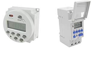 1-99min Ajustable DC12V Pantalla LED Digital Temporizador de Retardo Interruptor de Temporizaci/ón Apagar M/ódulo de Rel/é 1-99s